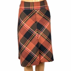 The Limited Lined Plaid Pencil Skirt Plus Size 14